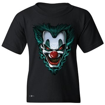 "Zexpa Apparelâ""¢ Freakshow Joker Clown Scary Youth T-shirt Halloween Eve Costume Tee"