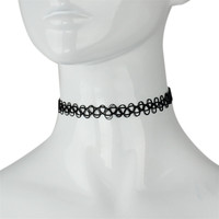 Durable Top Tattoo Choker Stretch Necklace Black Retro Henna Vintage Elastic 12.21 IMY66
