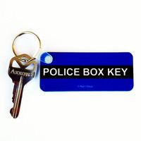 TARDIS Police Box Doctor Who Keychain by DareWearbyNaniWear