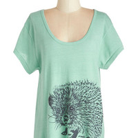 ModCloth Quirky Mid-length Short Sleeves You're Looking Sharp Top