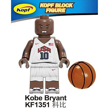 Block Figure NBA Lakers Kobe Bryant #10 USA Olympic Jersey