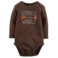 Carter's ''Gobble Til You Wobble'' Bodysuit - Baby Neutral, Size: