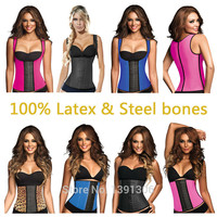 Free Shipping Latex Vest Waist Trainer Blet Waist Training Vest Hot Body Shaper Waist Cincher And Waist Training Corsets FY111