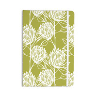 """Gill Eggleston """"Protea Olive White"""" Green Flowers Everything Notebook"""
