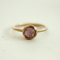 Etsy Transaction -        Reserved. Pink sapphire ring. Rose cut ring. 18K gold. engagement.