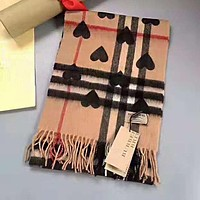 BURBERRY High Quality Fashion Heart Plaid Wool Cashmere Cape Scarf Shawl Scarves Accessories