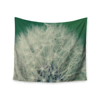 """Angie Turner """"Fuzzy Wishes"""" Green White Wall Tapestry"""