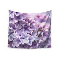 """Sylvia Cook """"Lilac"""" Purple Flowers Wall Tapestry"""