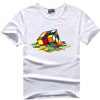 Melting rubix cube Big Bang Theory Sheldon Cooper Super Hero Tee t-shirt hwd