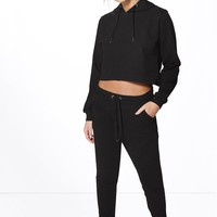 Sophie Crop Hoodie And Jogger Lounge Set