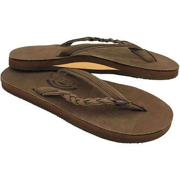 Women's Flirty Braidy Leather Sandal in Expresso by Rainbow Sandals