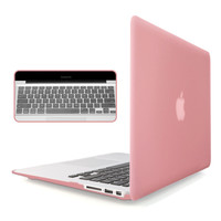 "Rubberized Laptop Case Cover & Keyboard Skin for Macbook Air Pro Retina 11"" 12"" 13"" Rose Gold Free Shipping"