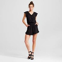 Women's Ruffle Surplice Short Sleeve - Xhilaration™ (Juniors') : Target
