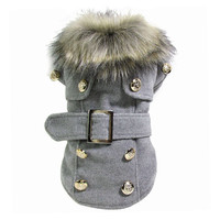 Dog Winter Warm Coat Luxury Jacket Puppy Clothes Pet Clothing Cat Apparel dog winter coat Thick cotton 4 Size