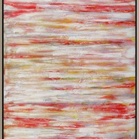 Coral Course Wall Decor W/Frame Acrylic Painting Canvas