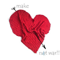 """Pippi's """"Let MY Heart Keep You Warm"""" Heart Shaped Blanket, Crochet Blanket, Sofa Throw, Valentines Gift, for Home, Warm,"""