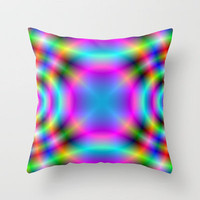The 60's Vibe Throw Pillow by Alice Gosling | Society6