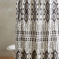 Ongamira Shower Curtain by Anthropologie in Black & White Size: One Size Shower Curtains