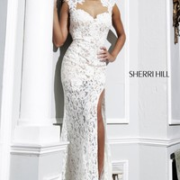 Slit Evening Gown by Sherri Hill