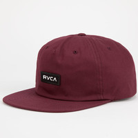 Rvca Pinacle Low Crown Mens Snapback Hat Maroon One Size For Men 24479432301