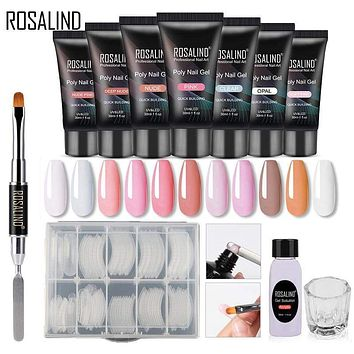 ROSALIND Poly Nail Gel Extension Nail Kit All For Manicure Gel Set Acrylic Solution Water Builder Gel Polish For Nail Art Design