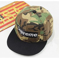 Supreme new fashion camouflage hat couple baseball hat male and female hat