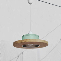 Hanging lamp, mint color.... ECO-friendly: recyled from big coffe can !