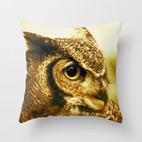 owl Throw Pillow by Marianna Tankelevich   Society6