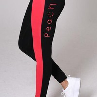 'Fierce' Black/Red Legging