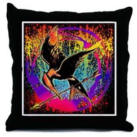 Mockingjay Fire in the Sky Throw Pillow> The Hunger Games