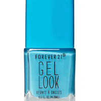 Bright Teal Gel Look Nail Polish