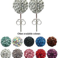ONE PAIR of Crystal Stud Earrings by GlitZ JewelZ © - 5/16' (8MM) - bling bling!! Comes packed in a
