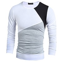 New Men's Multi-Color Long Sleeved Shirt