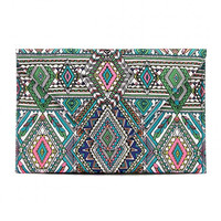 Multicolor Geo Tribe Print Bag with Chain Strap