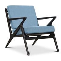 Jet Accent Chair Black Wood Finish CHOICE OF COLORS