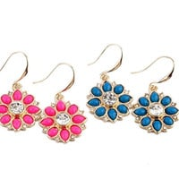Spring Flowers Drop Earrings