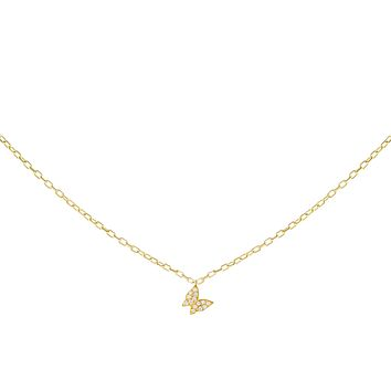 Pavé Tiny Butterfly Necklace