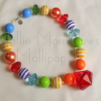 Mollie Moe Bows | Mollipops! - Somewhere over the rainbow - necklace | Online Store Powered by Storenvy