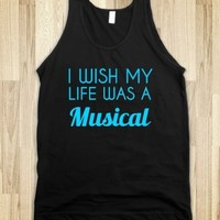 Supermarket: I Wish My Life Was A Musical T-Shirt from Glamfoxx Shirts