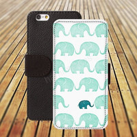 iphone 5 5s case elephant cartoon blue iphone 4/4s iPhone 6 6 Plus iphone 5C Wallet Case,iPhone 5 Case,Cover,Cases colorful pattern L244