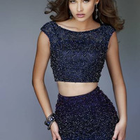 Sherri Hill 32279 Short Two Piece Beaded Homecoming Dress