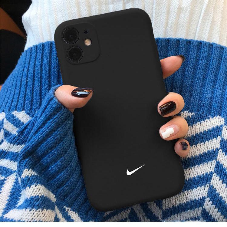 Image of Apple 11 Nike mobile phone case iPhonex frosted silicone 11proMax/xr protective shell 7plus/8p/6sp