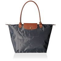Longchamp Women's Le Pliage Large Tote Bag, Gunmetal