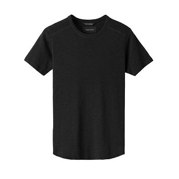 1x1 Slub Short Sleeve in Black