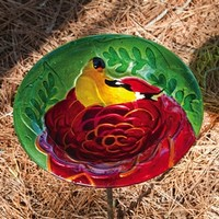 Summer Song, Glass Birdbath