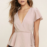 Modern Gal Blush Wrap Top