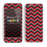 Red and Black Chevron Pattern V2 Skin For The iPhone 5c