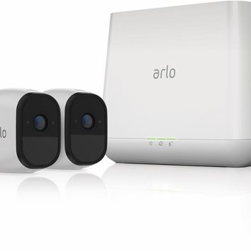 Arlo - Pro Indoor/Outdoor HD Wire-Free Security Camera System (2-Pack) - White