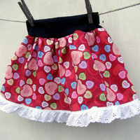 Conversation Hearts TuTu skirt KIDS size Valentines Day Lace Candy Love from PoppysWickedGarden