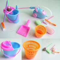 Set of 9Pcs Home Furniture Furnishing Cleaning Cleaner Kit For Doll House